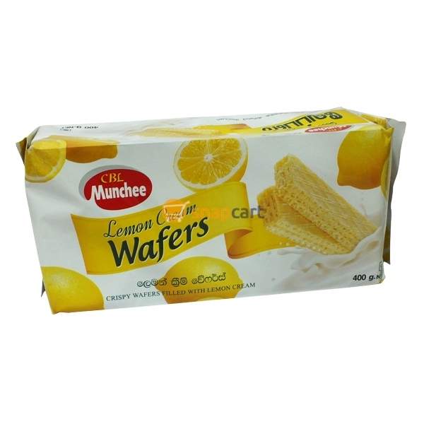 Munchee lemon cream wafers 400g